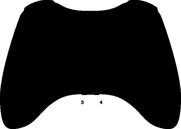Xbox 360 Controller Silhouette clip artXbox 360 Controller Outline