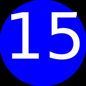 number 15 blue background clip art at clker com vector clip art