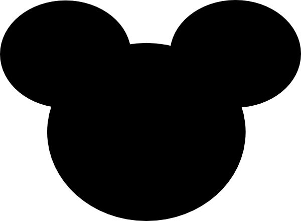 Black Mickey Mouse Ears Clip Art at Clker.com - vector clip art online ...
