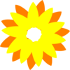 Flower Sun Orange Clip Art