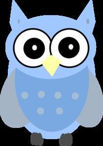Blue Gray Owl Clip Art at Clker.com - vector clip art ...