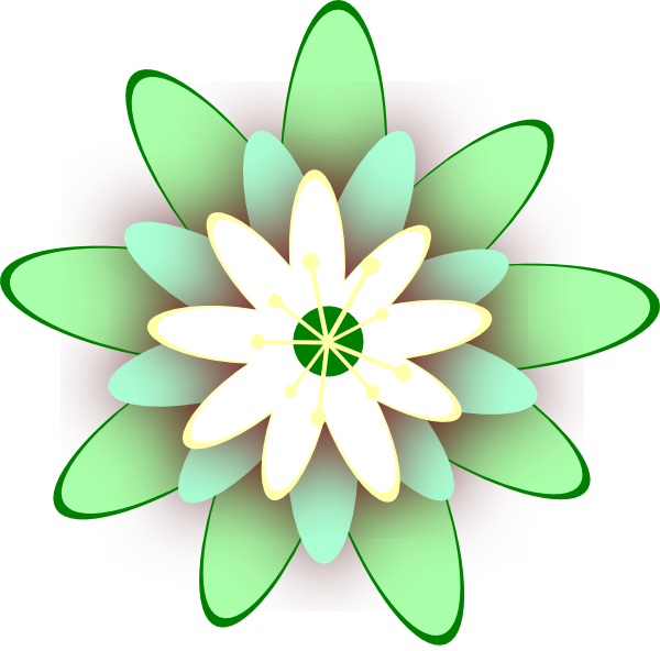 free green flower clipart - photo #10
