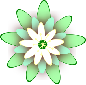 Green Flower Clip Art