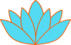 Blue Orange Lotus Clip Art