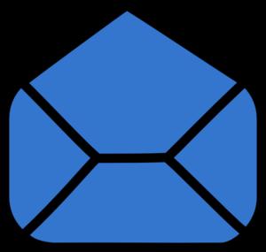 blue envelope open clip art at clker com vector clip art online rh clker com