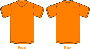 Plain Orange Shirt Clip Art