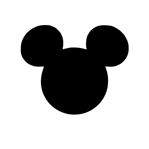 Black Mickey Head Clip Art at Clker.com - vector clip art ...