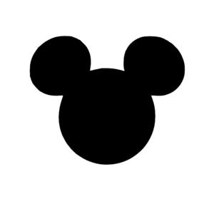 Black Mickey Head Clip Art at Clker.com - vector clip art online ...