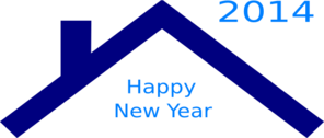 Blue Roof New Year Clip Art