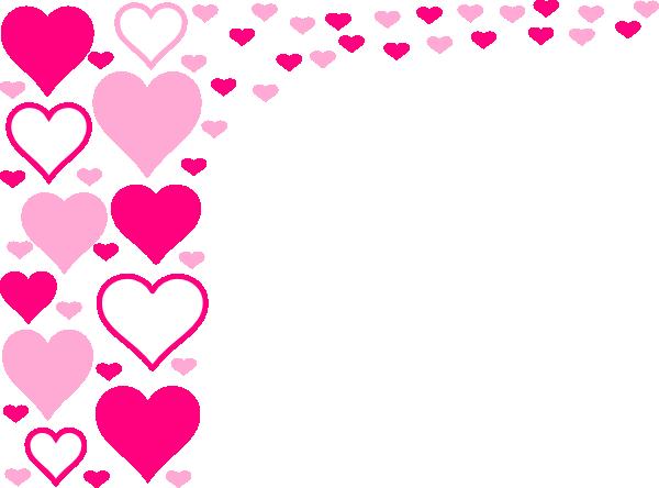 pink hearts border clip art at clkercom vector clip art