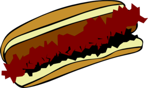 Chili Coney Dog Clip Art