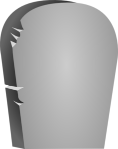 Rounded Tombstone Clip Art