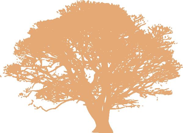 Peach Oak Tree Clip Art at Clker.com - vector clip art ...