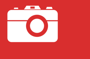 White Camera On Red Clip Art