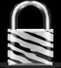 Padlock Zebra Clip Art