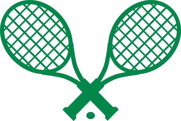 preppy double green tennis racquet clip art at clker com vector rh clker com Court Tennis Racket Clip Art Funny Tennis Clip Art