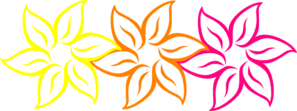 Rainbow Flower Clip Art