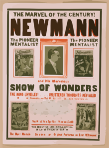 The Marvel Of The Century! Newmann And His Marvelous Show Of Wonders. Clip Art