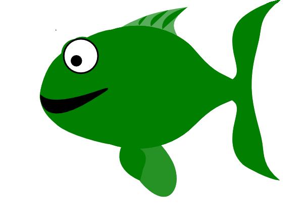 Green Happy Fish Clip Art at Clker.com - vector clip art ...