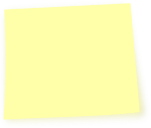 Light Yellow Post It Note Clip Art