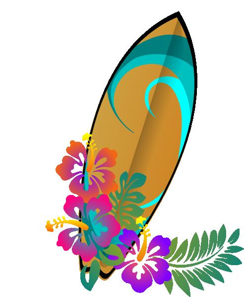 Tabla Surf Clip Art at Clker.com - 105.6KB