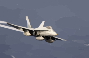 An F/a-18a Hornets Fly Over The Western Pacific Ocean During Flight Operations. Clip Art