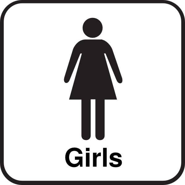download this image as - Girl Bathroom Sign