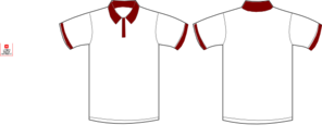 Polo Shirt Maroon Clip Art