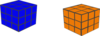 Orang And Blue Cubes Clip Art