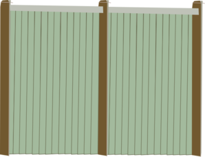 Wood Fence Facing Clip Art