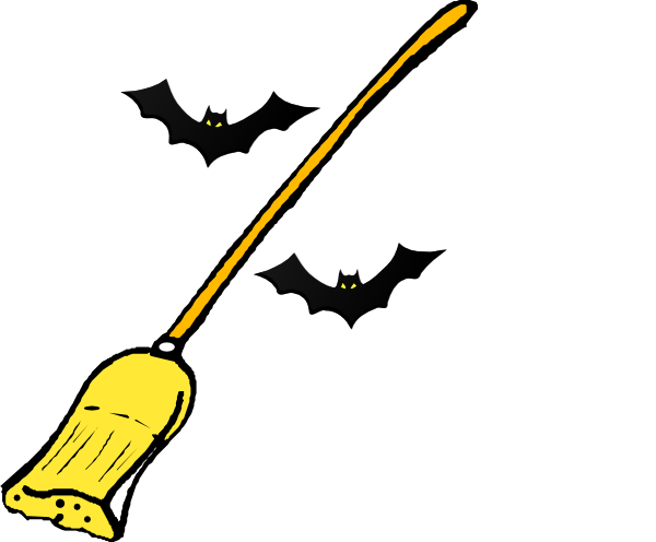 Witch s Broom clip artWitch On Broom Clip Art