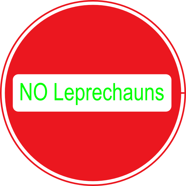 No Leprechauns Clip Art at Clker.com - vector clip art online, royalty ...