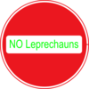 No Leprechauns Clip Art