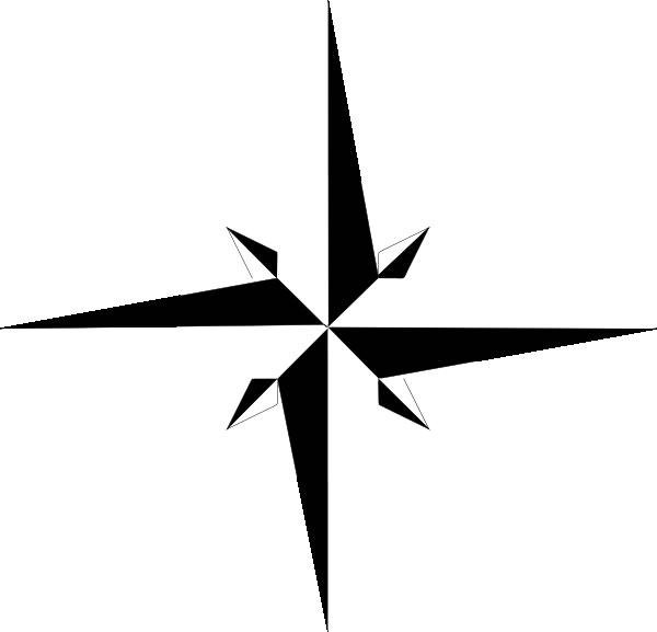 Black White Compass Rose Clip Art at Clker.com - vector ...