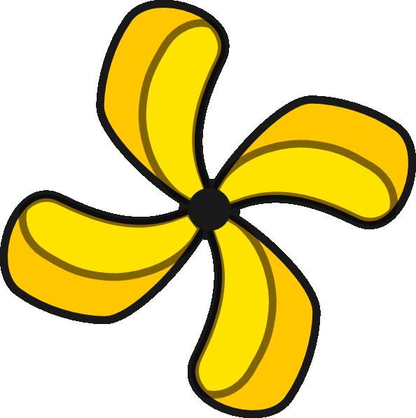 Yellow Fan Clip Art At Clker Com Vector Clip Art Online