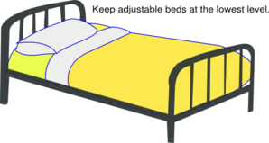 Hospital Bed Low Clip Art