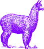 Purple Alpaca Ms Patonai Clip Art