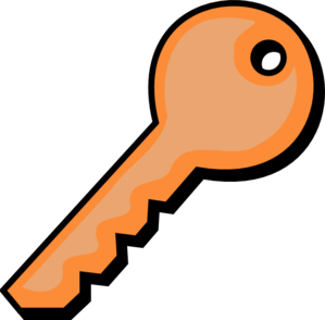 Orange Key Clip Art