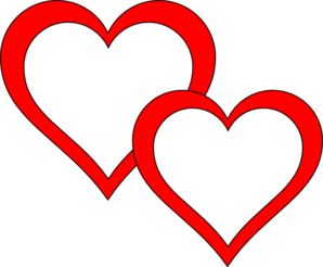 Two Hearts Overlap Clip Art