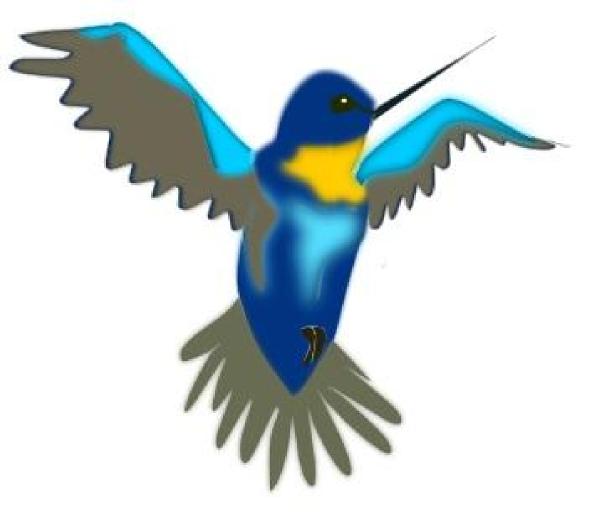 hummingbird clip art at clker com vector clip art online royalty rh clker com hummingbird clip art images hummingbird clip art stencil