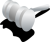 Black And Gray Judge Hammer Clip Art