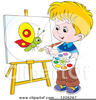Man Painting Clipart Image