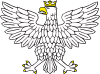 Eagle Wearing Crown Clip Art