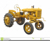 Antique Tractor Clipart Image