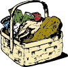 Food Basket Clip Art