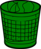 Green Trash Bin Clip Art