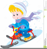 Child On Scooter Clipart Image
