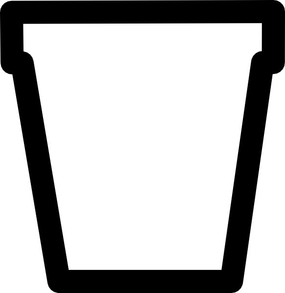 flower pot bw outline clip art at clker com