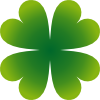 Pierig Four Leaf Clover Clip Art
