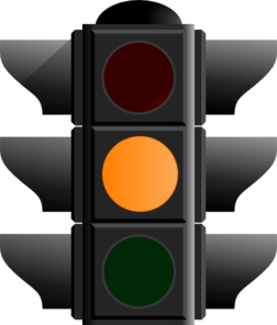 Amber Traffic Light Clip Art
